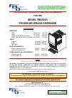 FBD FBD553D Installation, operation and service manual